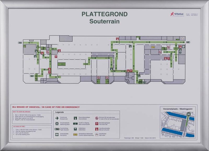 Vluchtplan vluchtplannen kwaliteit en scherpe prijzen for Ontruimingsplattegrond zelf tekenen